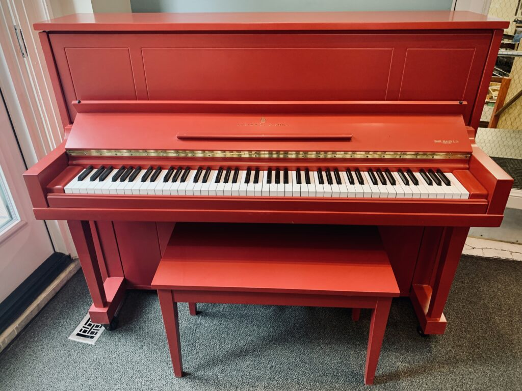1969 Steinway Upright Model 1098 in Rectory Red