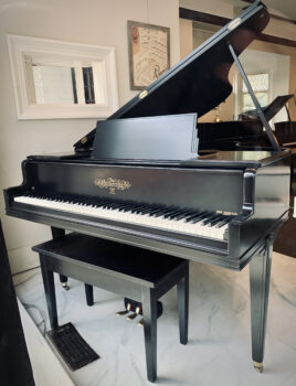 1950 Chickering Baby Grand in Satin Ebony