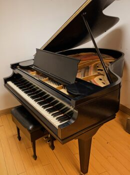 "1919 Chickering & Sons ""Quarter"" Grand Piano Model 135 in Satin Ebony"
