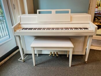 "1973 Yamaha Spinet in Farrow & Ball ""School House White"""