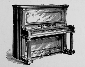 1887 Steinway upright placemarker