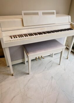 1973 Yamaha Spinet Acoustic Upright in School House White