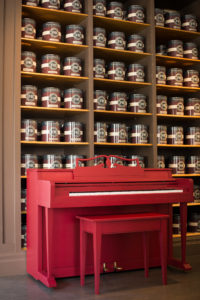 Wurlitzer Mini Piano in Rectory Red