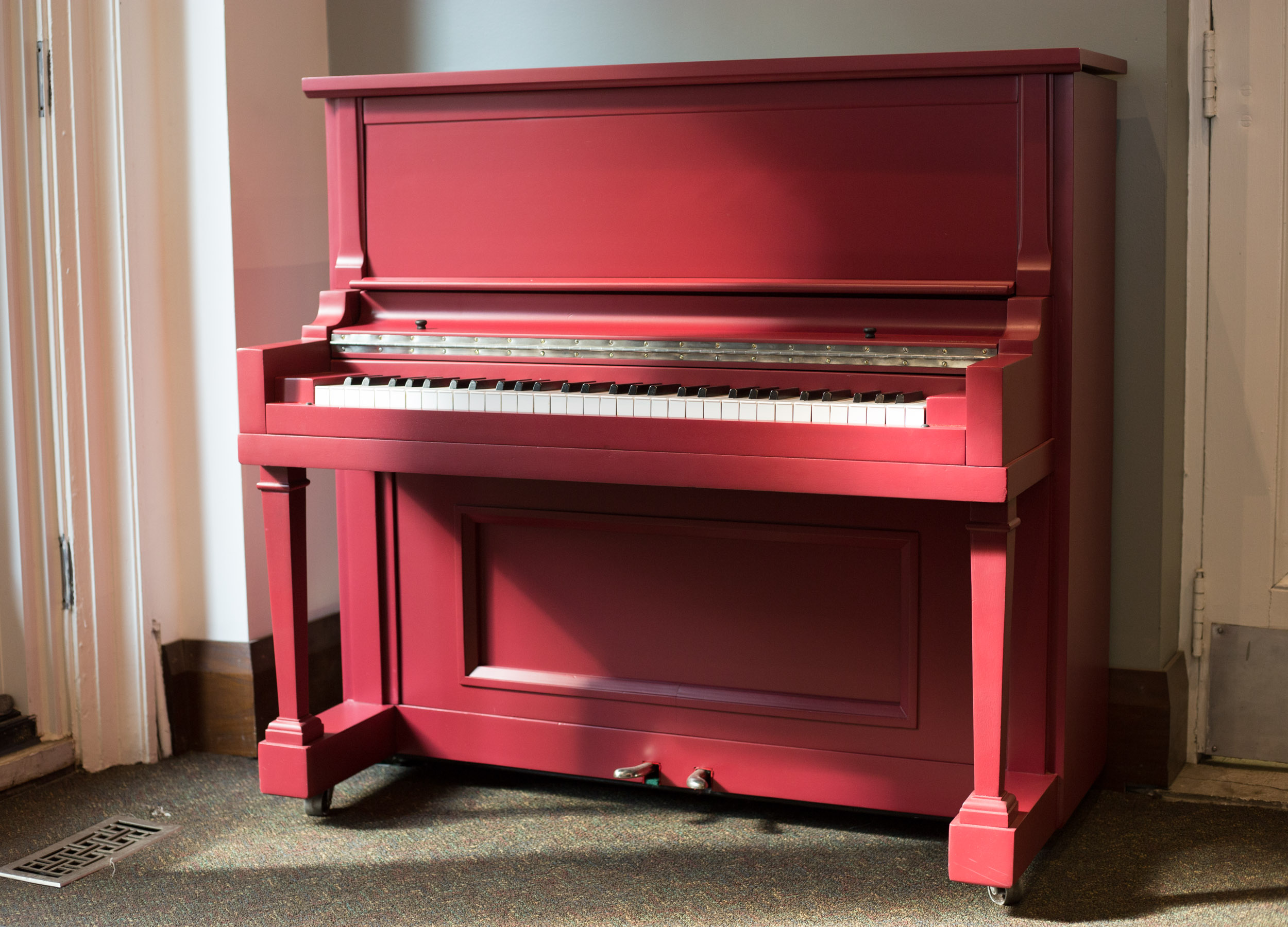 Tom Thumb Piano in Farrow & Ball Rectory Red